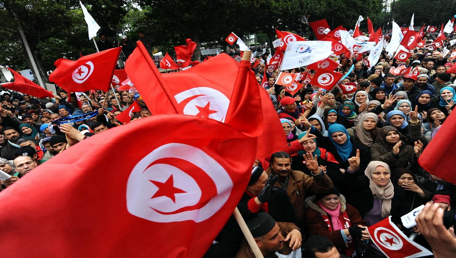 Manifestazioni a Tunisi